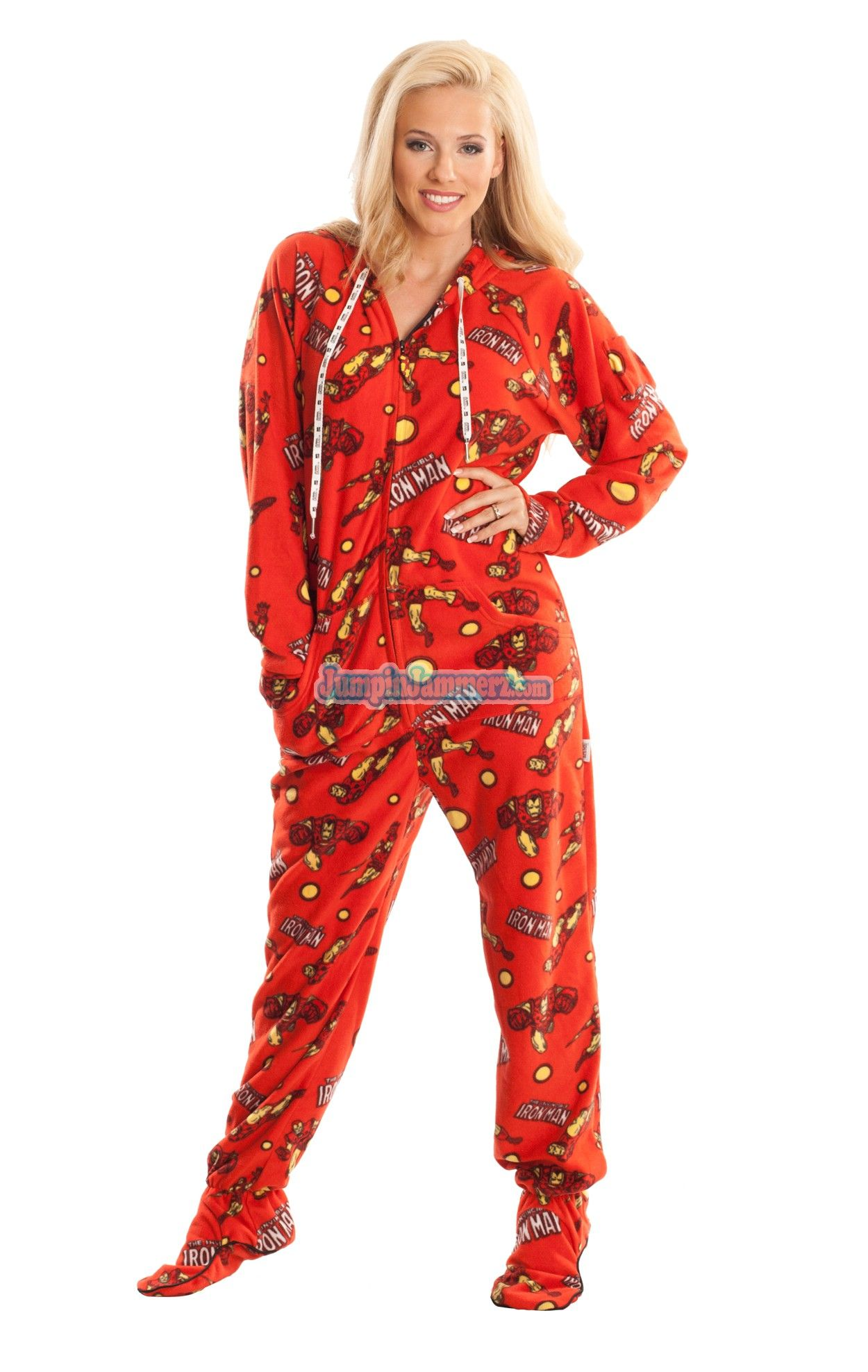 Ironman - Marvel Comics - Pajamas Footie PJs Onesies One Piece Adult Pajamas c492f2065