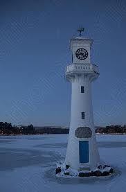Frozen Roath Park Lake in Cardiff.