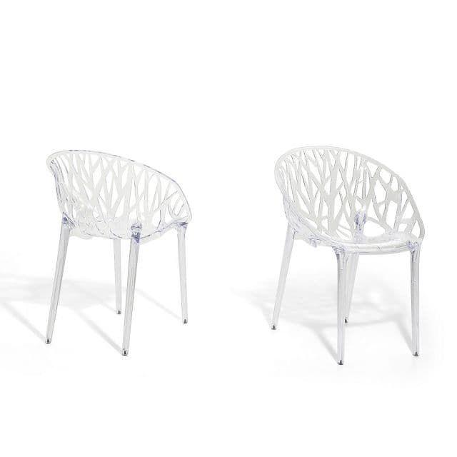 esszimmerstuhl durchsichtig wohnzimmerstuhl stuhl aus kunststoff discovery beliani de. Black Bedroom Furniture Sets. Home Design Ideas