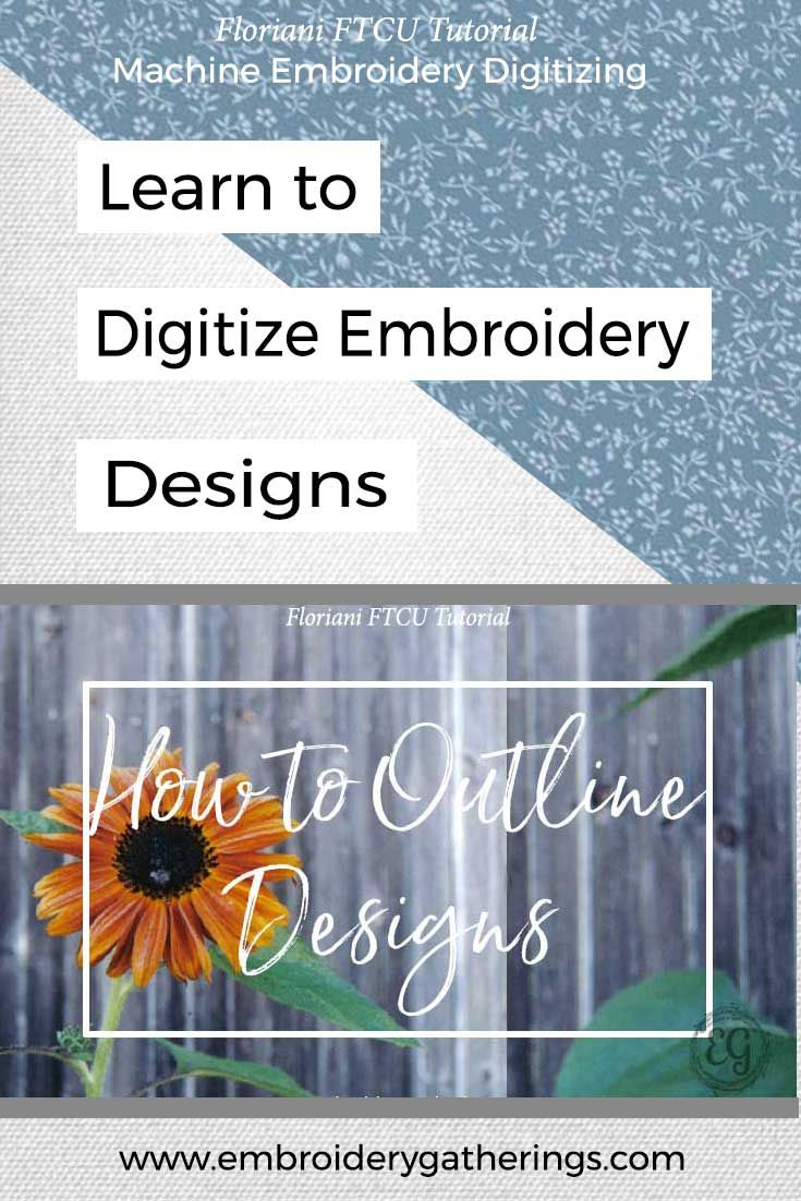 How To Digitize An Outline Around An Embroidery Design Floriani