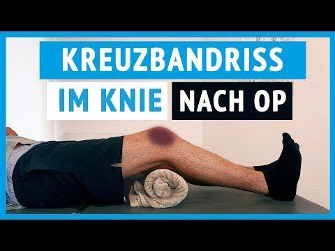 Kreuzbandriss im Kniegelenk - Erste Übungen (nach OP) - YouTube