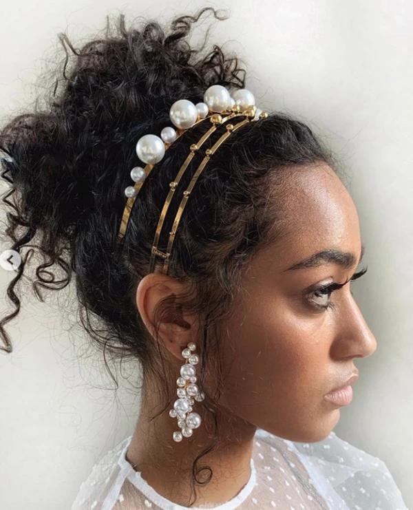 Mega Drop Pearl Headband