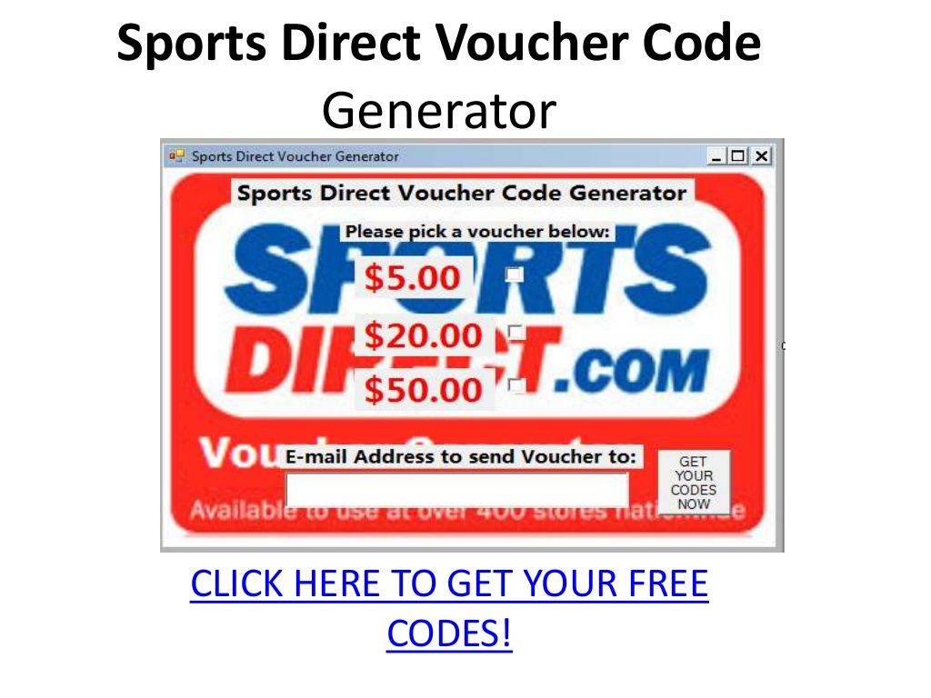 Sports Direct Voucher Code 24210798 By Slideshare Official