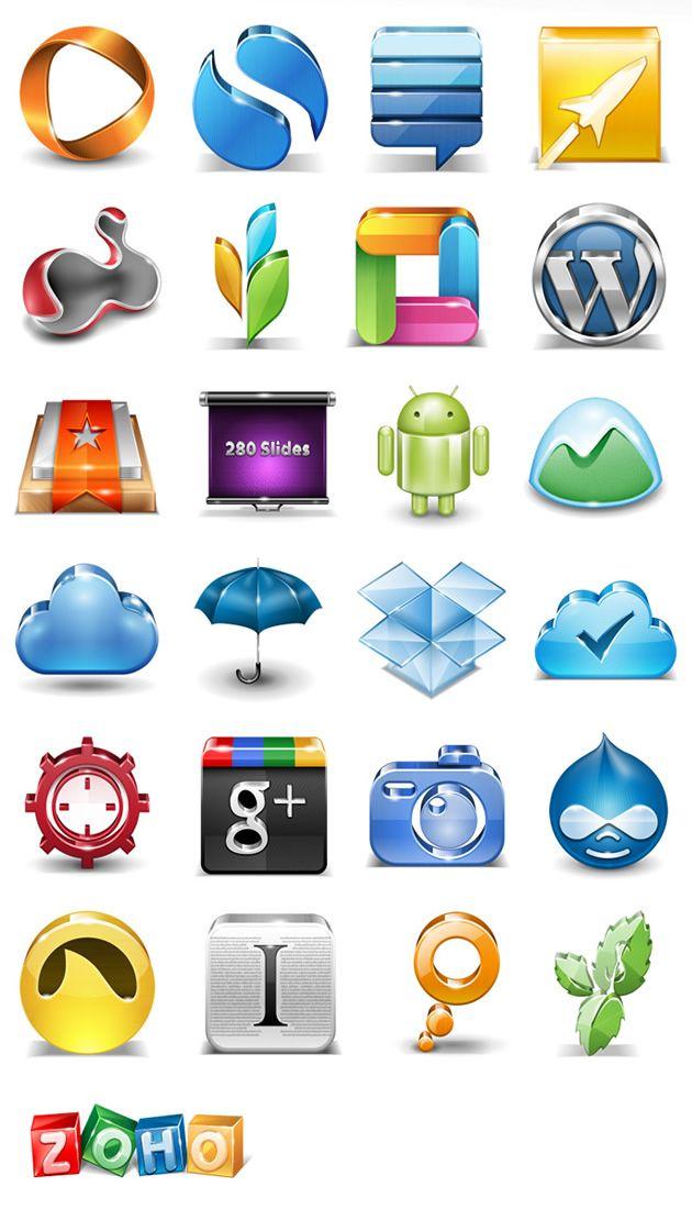 Free, Popular Application Icon Set, website graphics
