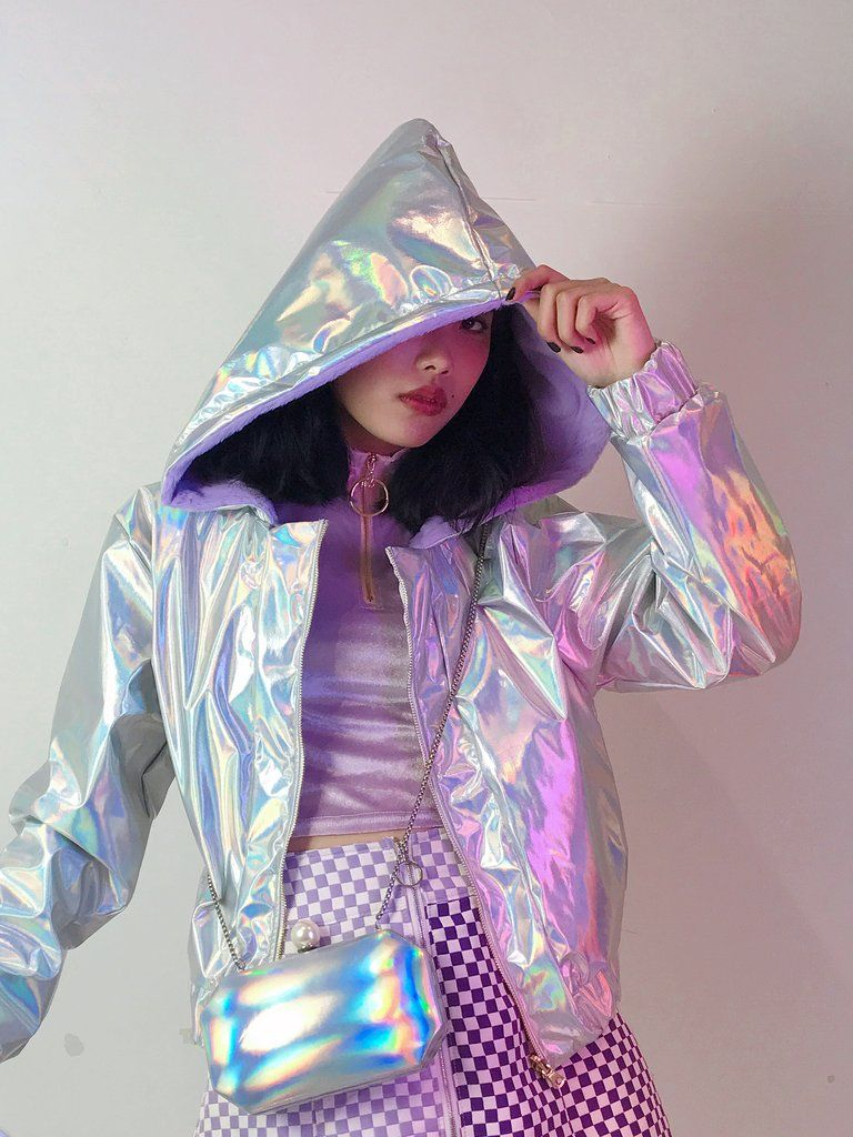 Double sided jacket   Holographic jacket, Jackets, Sport outfits
