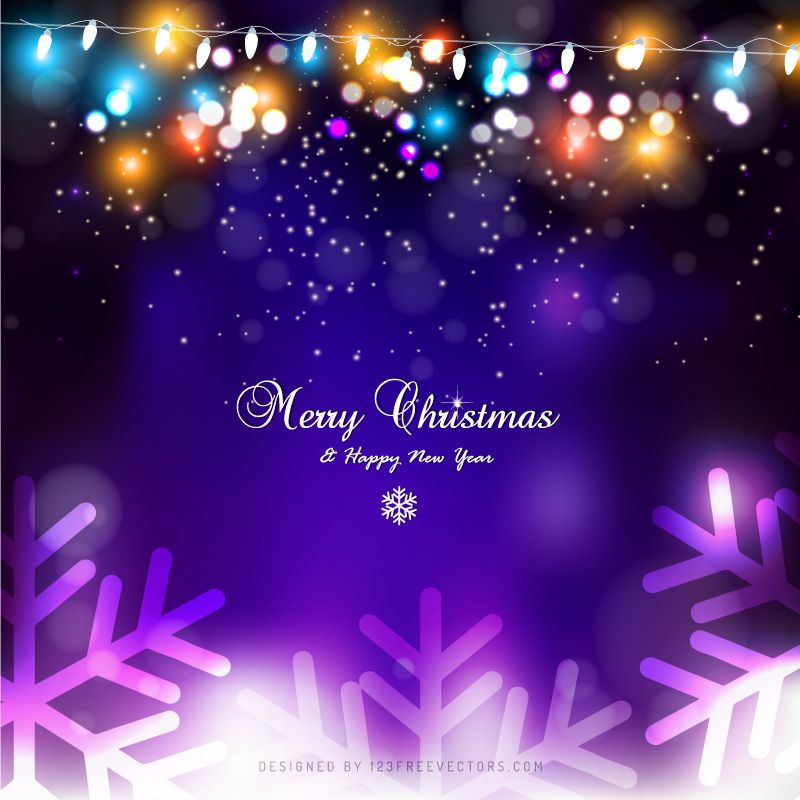 Purple Christmas Lights Background Design Christmas