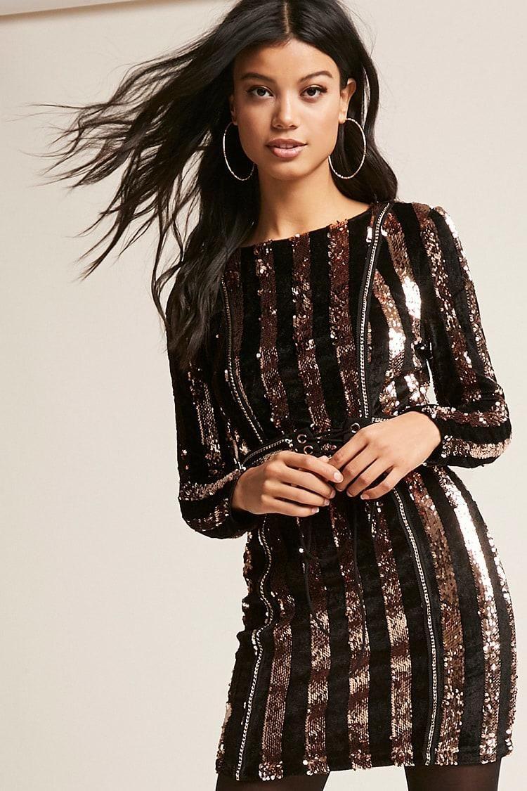 Metallic sequin velvet dress usd forever new