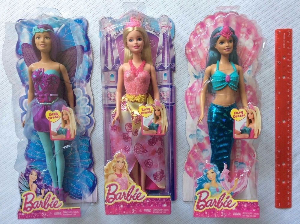 incredible prices new lower prices aliexpress Barbie Princess Summer Mermaid Teresa Fairy Doll Lot of 3 ...