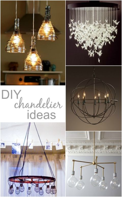 looking for diy chandelier ideas that won\u0027t block an amazing view - Lamparas Caseras