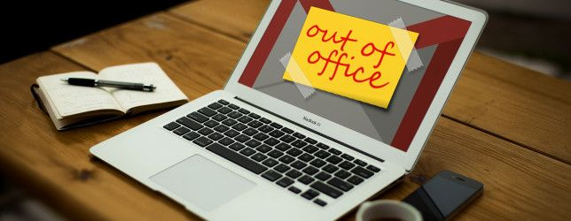 Set up your gmail out of office message before going to