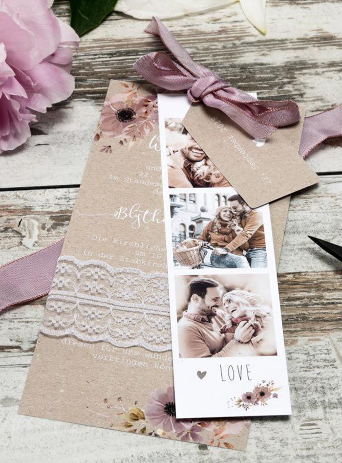 Hochzeitseinladungen ausgefallen #vintage