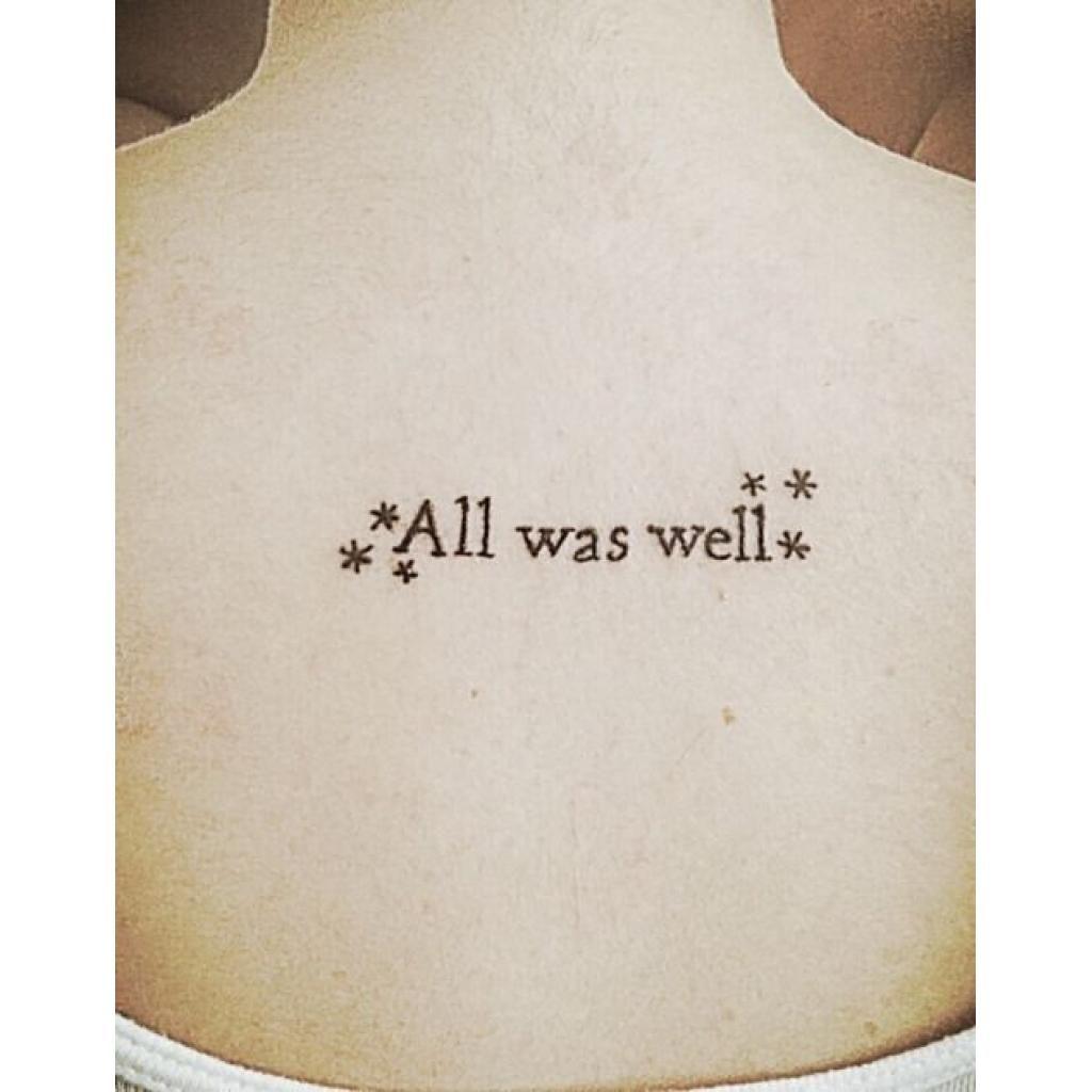 All Was Well Harry Potter Tattoo Potterhead Harrypotter Tattoos Harry Potter Tattoos Harry Potter Quotes Tattoo Harry Potter Tattoo Small