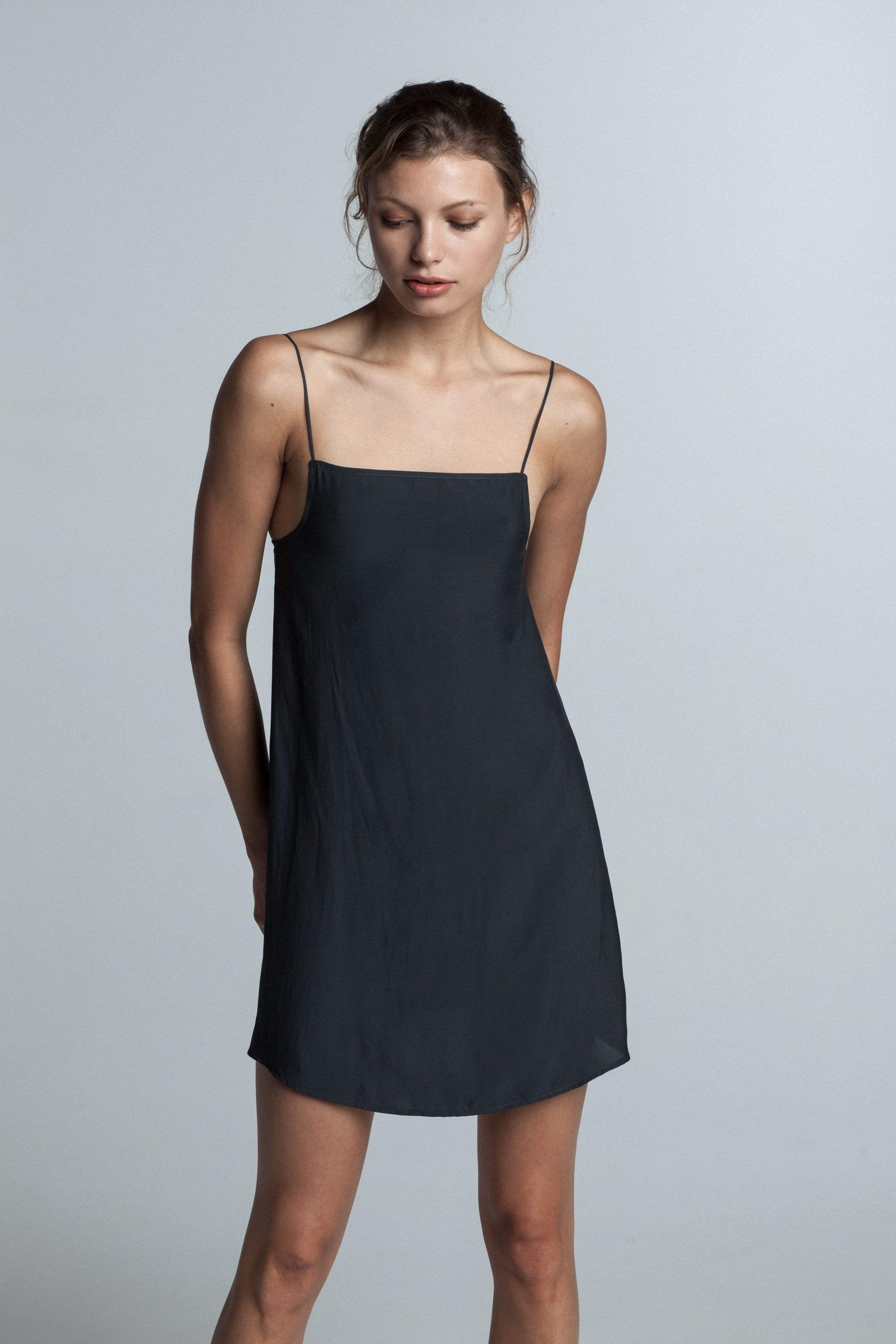 22e4d5a1522b4 Trois Claudia Slip Dress in Black, $215.00 | My Style | Dresses ...