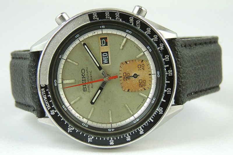 1a947a3ea70 Vintage Seiko Automatic Day Dater Chronograph 6139 6040 Watch Made in Japan