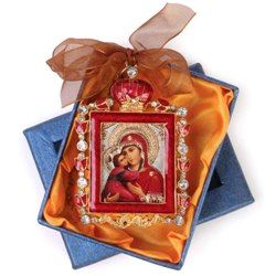 Monastery Greetings | Virgin & Child Jeweled Ornaments from Russia - Religious & Spiritual Gifts by Monks & Nuns in Abbeys, Convents, Hermitages and ...
