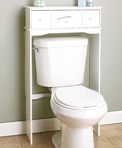 Wooden Bathroom Space Saver (White)
