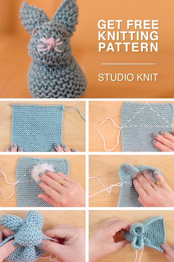 Photo of Einfach ein Häschen aus einem quadratischen Muster stricken
