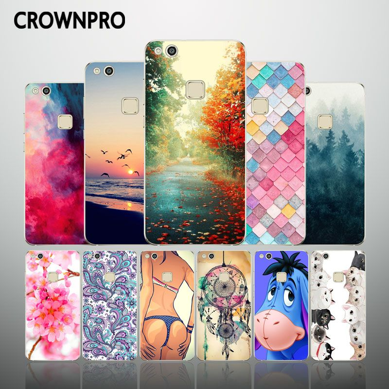 Crownpro Huawei P10 Lite Silikon Fall Huawei P10 Lite Telefon Fundas Zuruck Abdeckung Huawei P10lite Weiche Tpu Schutz In Crownpro Huawei P10 Lite Silikon Fall With Images