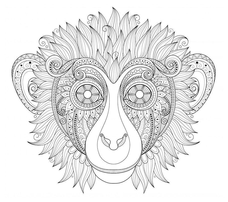 Monkey Mask Doodle - Doodle is Art   Animal doodles ...