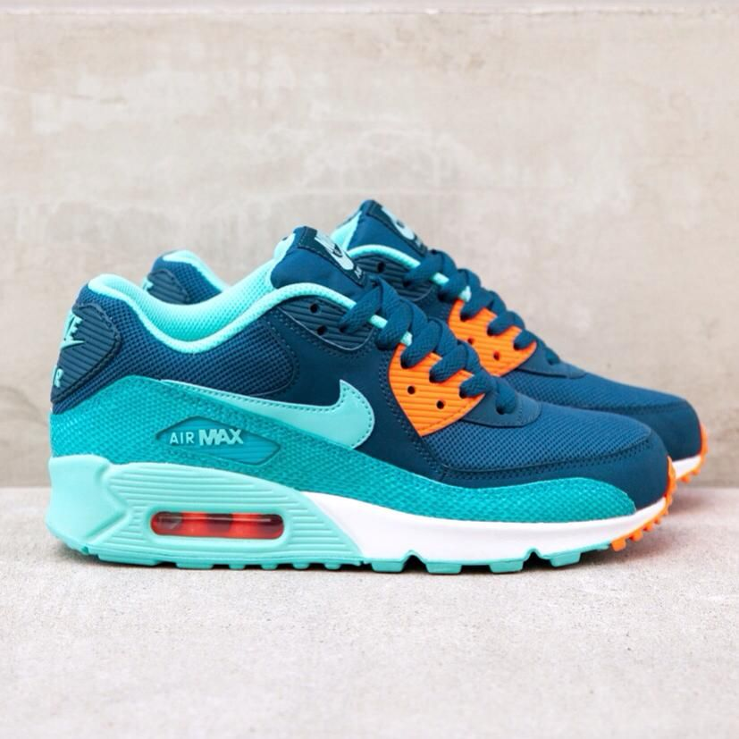 34ebf01cf00e Nike wmns Air Max 90  Space Blue Hyper Turquoise Dusty Cactus Crimson