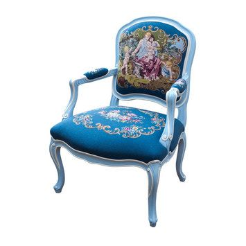 Petite Bergere With Stunning French Design Fabric French
