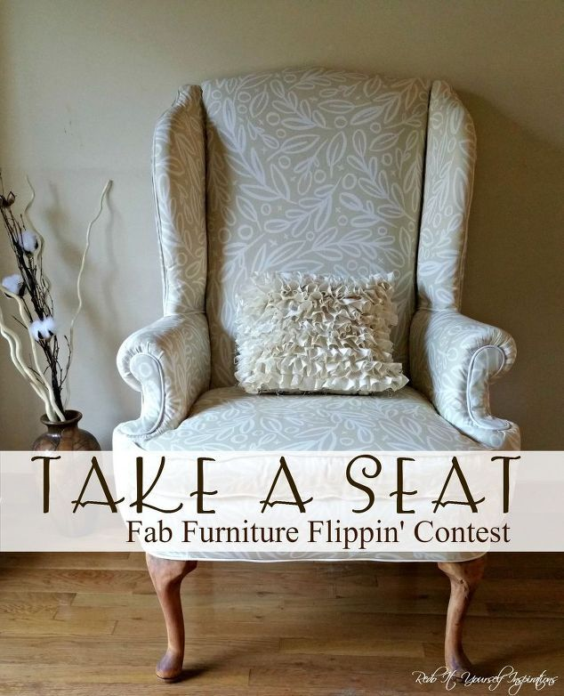 14 shocking furniture transformations using fabric chair makeover