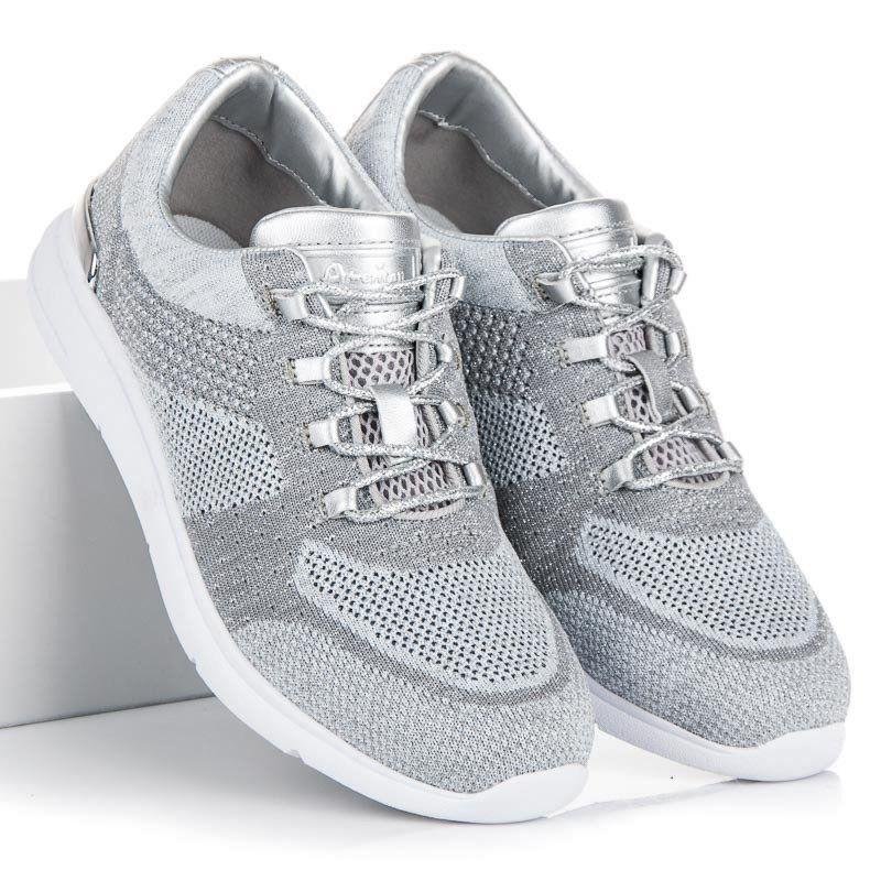 American Club Trampki American Szare Sneakers Sneakers Grey Athletic Sneakers