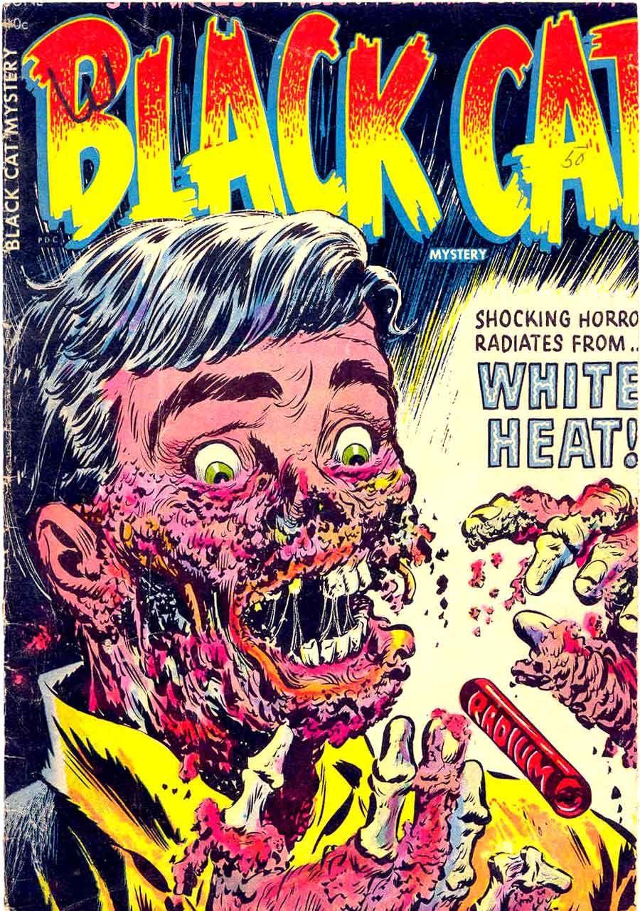 1950s horror comic Black Cat Mystery Quadrinhos de