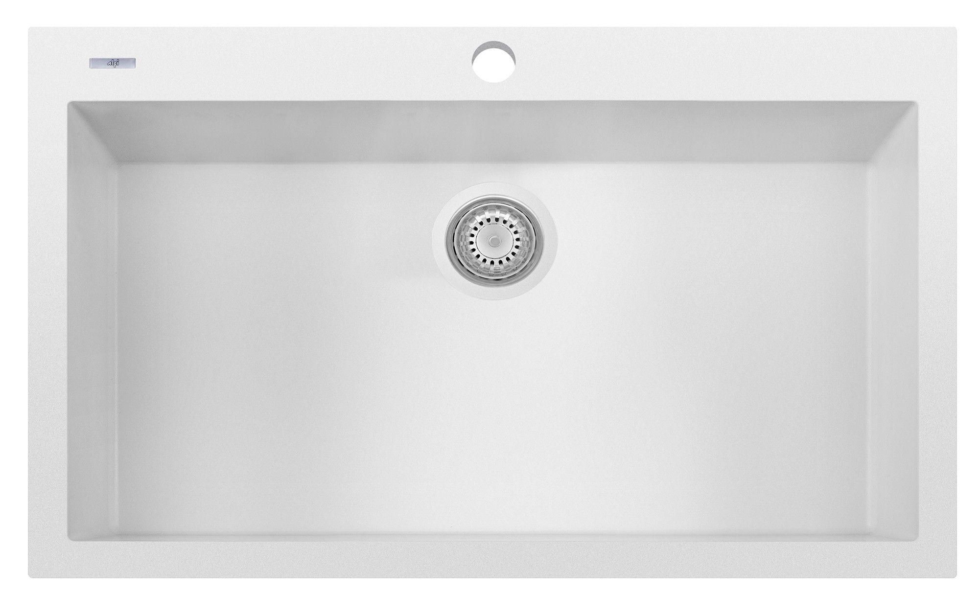 Alfi Brand Ab3322di W White 33 Single Bowl Drop In Granite