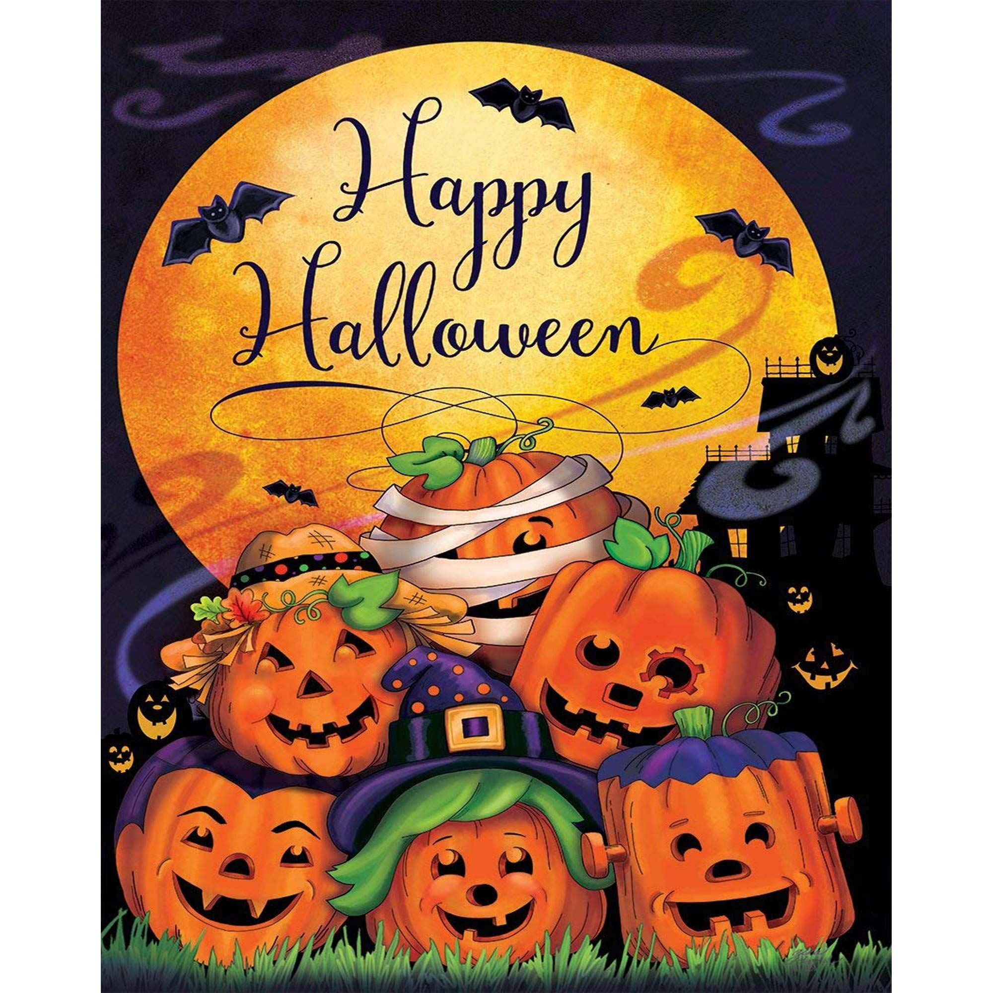 Scary Halloween Decorations Happy Halloween Garden Flag Decorative Outdoors Yard Flag For Hal Happy Halloween Pictures Halloween Garden Flag Happy Halloween