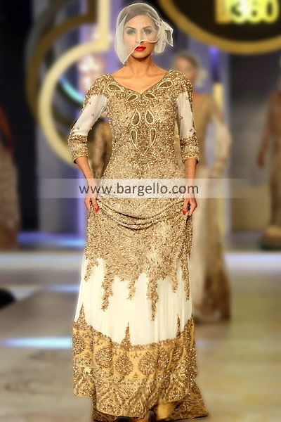 Off white bridal dresses pakistani