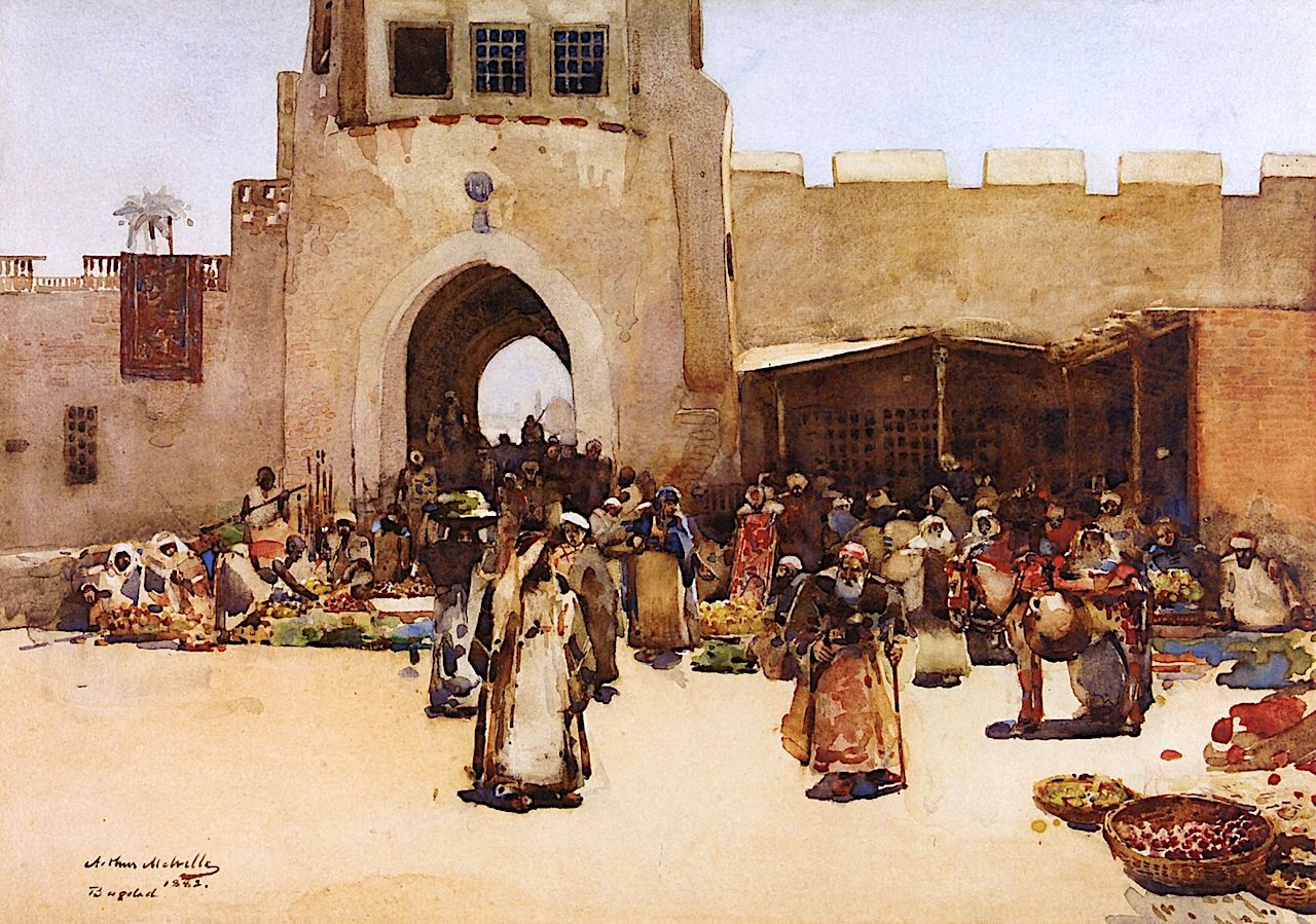The North Gate, Baghdad Painting | Arthur Melville Oil Paintings | Scottish  art, Baghdad, Watercolor portrait painting