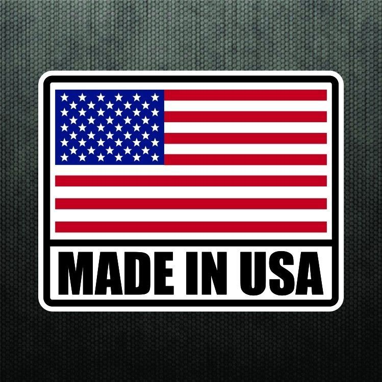 Made in usa america vinyl sticker decal united states flag decal for truck car