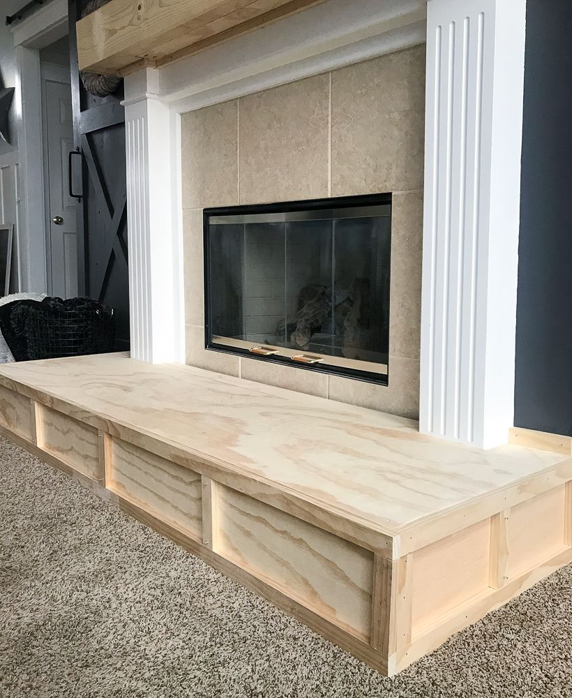 How To Build A Raised Fireplace Hearth Repurpose Life Build A Fireplace Diy Fireplace Makeover Rustic Farmhouse Fireplace