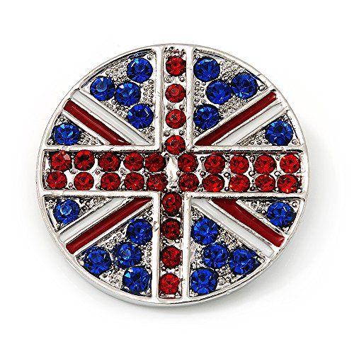 Union Jack Round Silver Plated Crystal Brooch - 4cm Diameter Avalaya http://www.amazon.com/dp/B007RN0Q1Q/ref=cm_sw_r_pi_dp_9806ub0C2NV2G