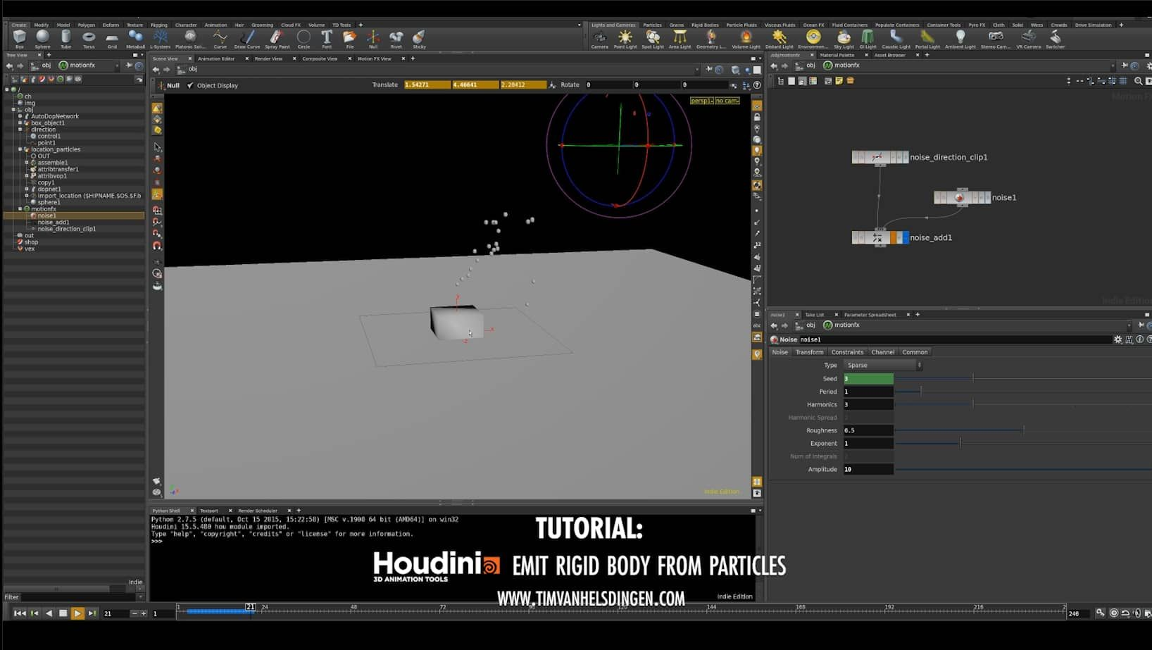 Houdini Tutorial - Emit Bullet from Particles on Vimeo