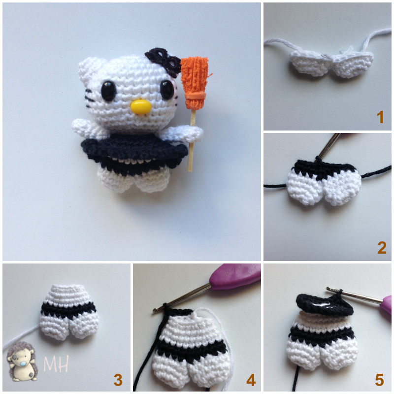 Mini Hello Kitty Bruja Amigurumi, Tutorial | crochet | Pinterest ...