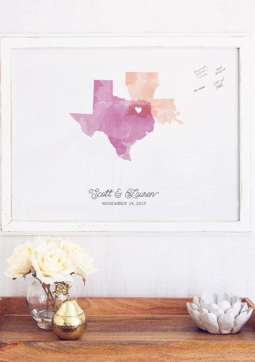 Wedding Guest Book Alternative Canvas by Miss Design Berry!