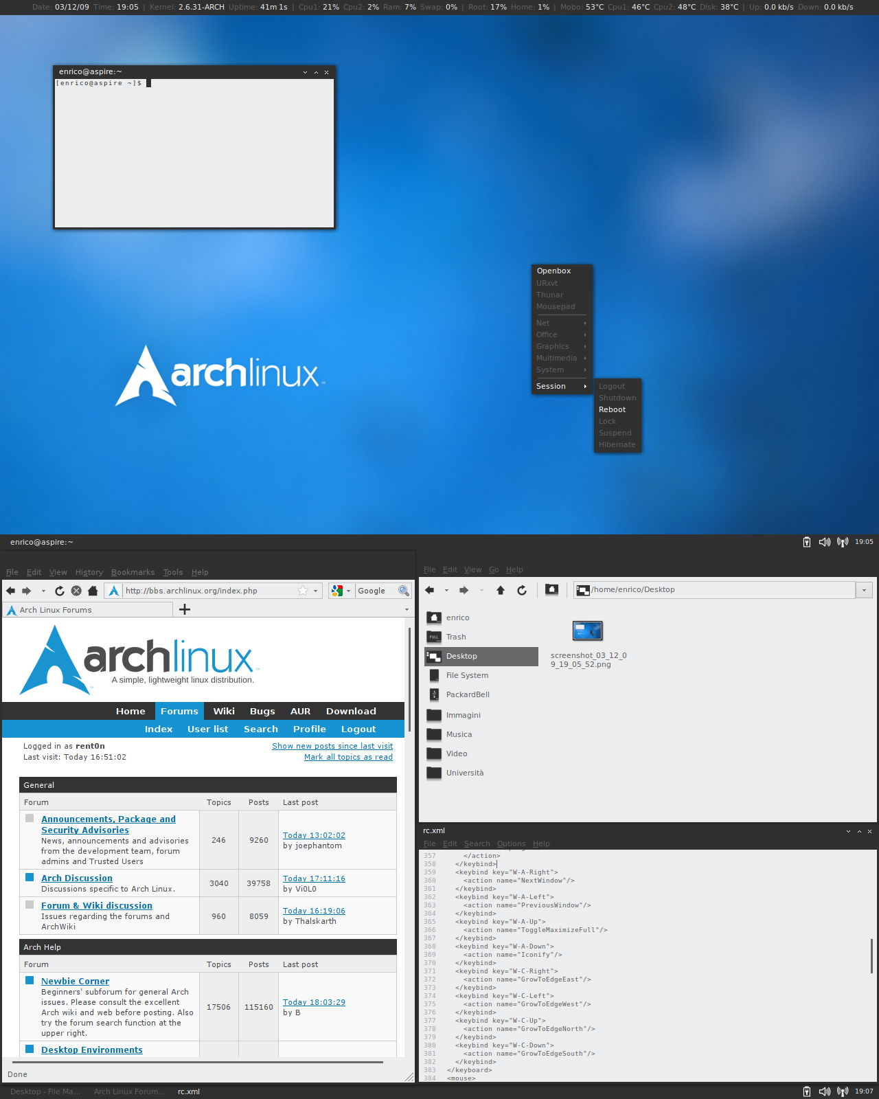 Pleasant Arch Linux Openbox Tiling Looks Impressive But Very Download Free Architecture Designs Lukepmadebymaigaardcom