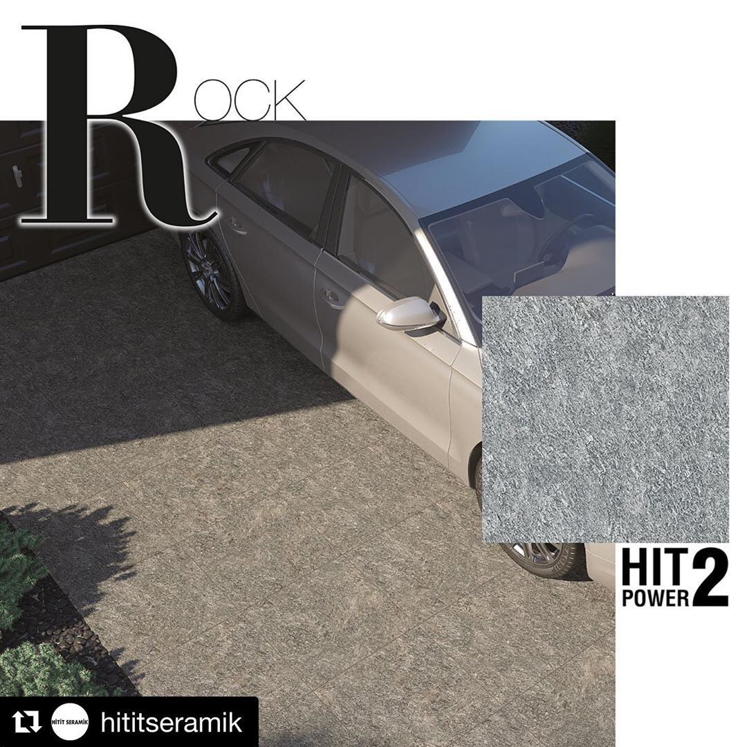 @hititseramik with @inkaconcept ・・・ Doğal taş dokusunu yansıtan 20 mm'lik Rock; yanmaya, donmaya, tuza, neme, her türlü hava koşulu ile yükedayanıklı oluşu gibi nedenlerle birçok dış mekanda tercih ediliyor. 60x60 boyutlu Rock; gri, structure gri, antrasit ve structure antrasit renk seçenekleri ile yıllar boyunca güvenle kullanılıyor. 💫
