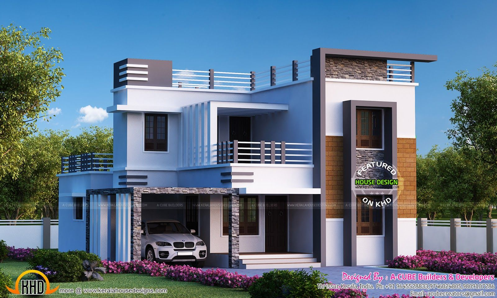 Beau 4 Bedroom Flat Roof Modern Home 2655 Sq Ft