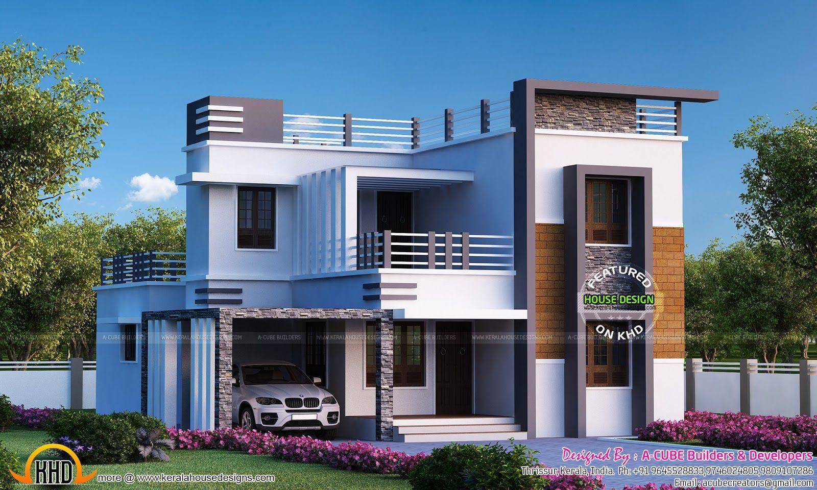 4 Bedroom Flat Roof Modern Home 2655 Sq Ft