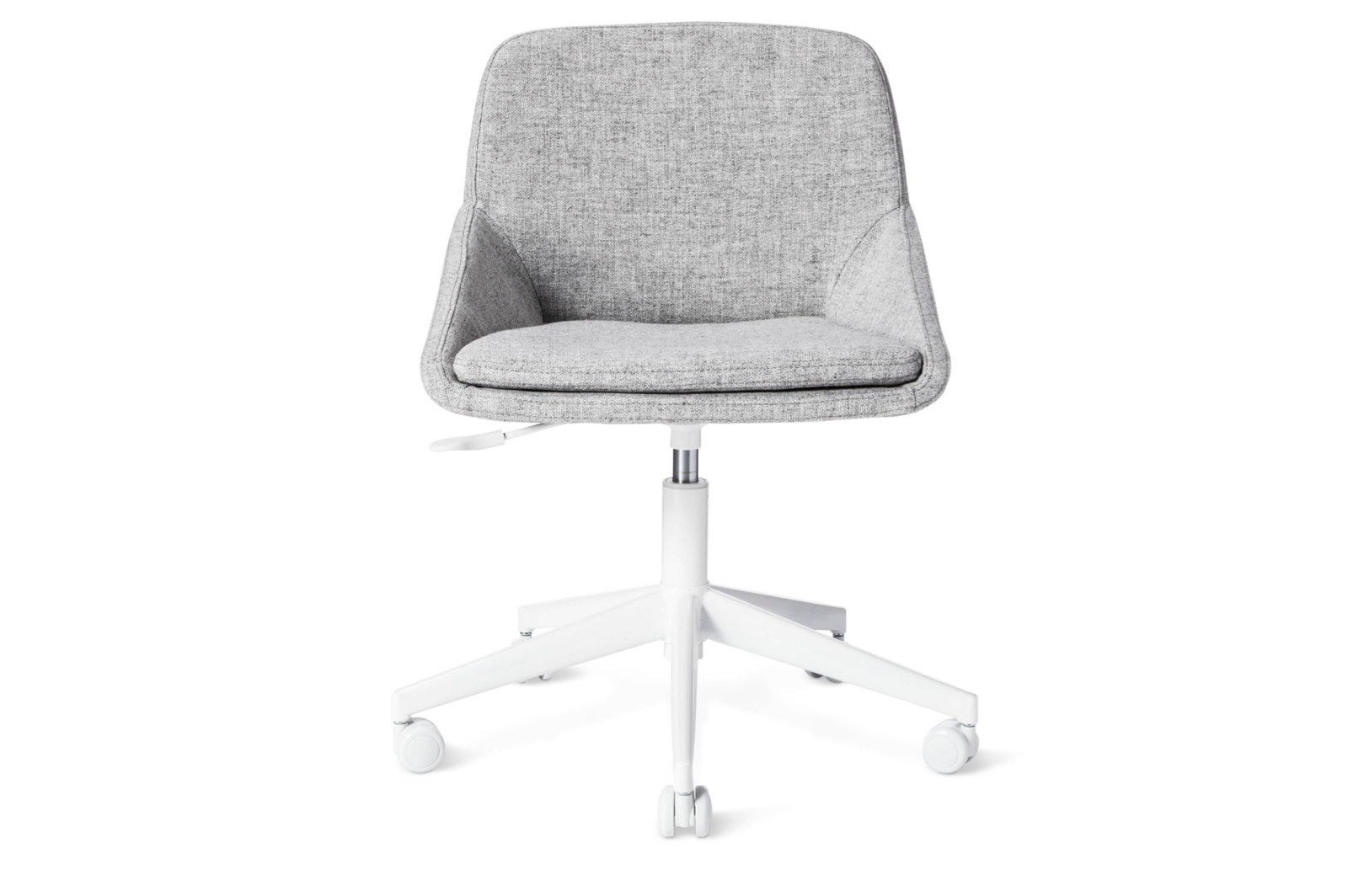 Modern By Dwell Magazine Gray Desk Chair By Dwell Grey Desk Chair Chair Rattan Dining Chairs