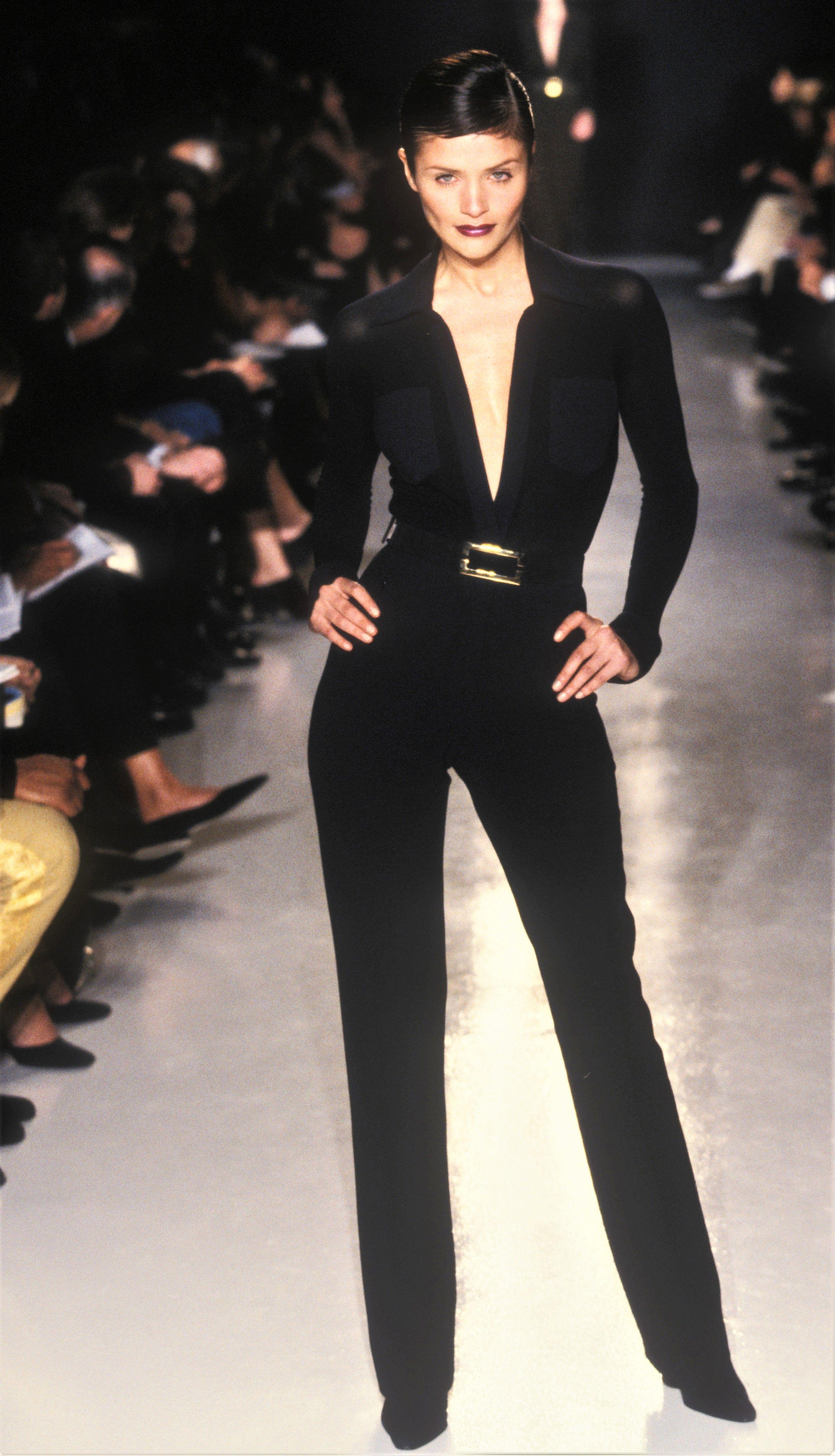 3c4aaffab0a9 Helena Christensen walked for Donna Karan RTW F W 1996