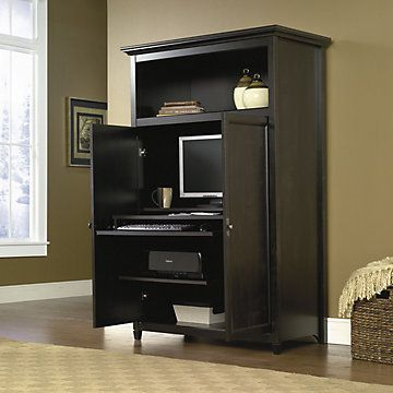 Gentil Sauder Edge Water Computer Armoire For Home Office With Free Shipping |  SAU 412265 41.5