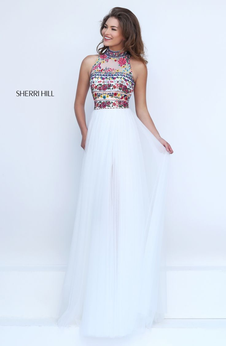 Spring sherri hill utah prom dress utah dress store embroidery