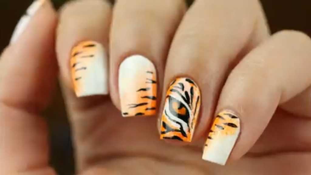 Mod Tiger Print Nail Art One1lady Nail Nails Nailart