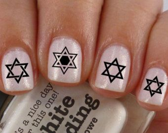 Free Shipping Star Of David Nail Art Sd1 Waterslide Transfers Decals Shield