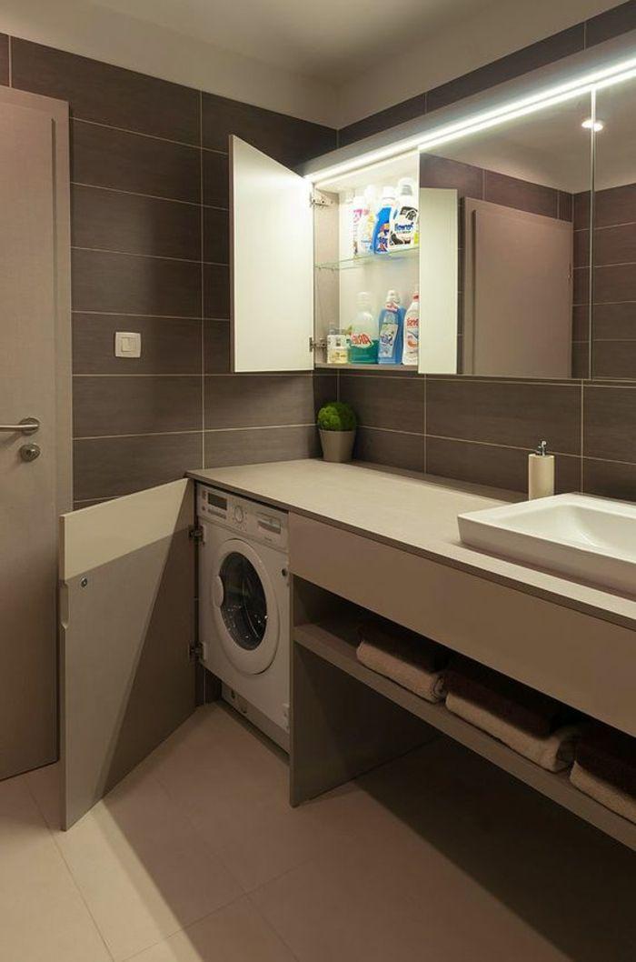 1001 id es comment am nager sa buanderie fonctionnelle meubles id e salle de bain placard - Amenagement placard salle de bain ...