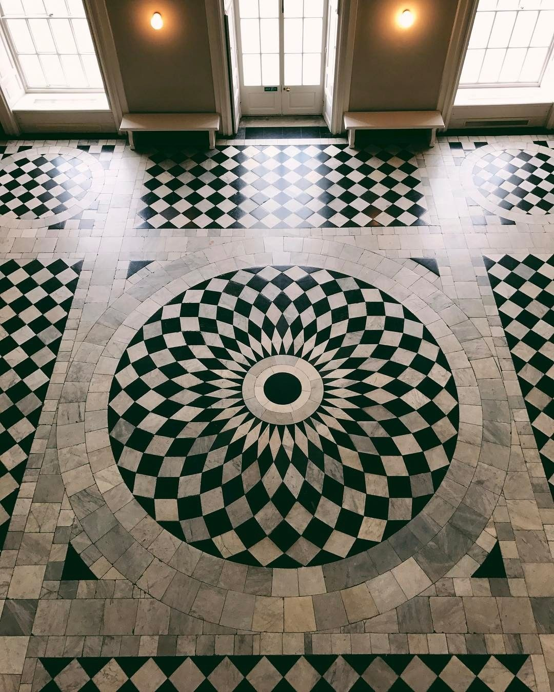 Mesmerizing marble floors at the Queens House in Greenwich